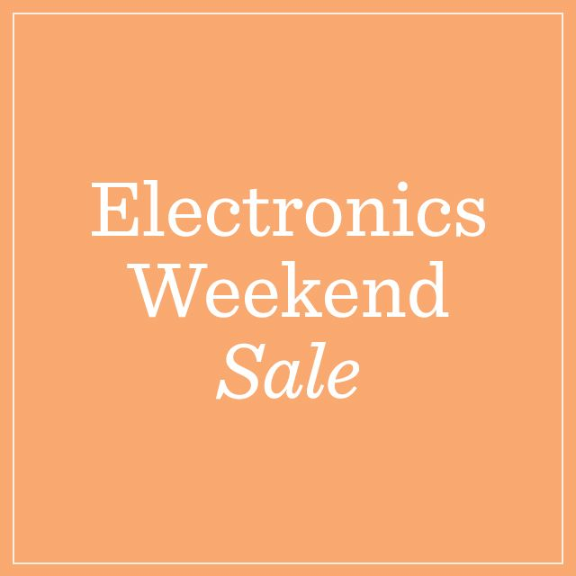 Electronics Weekend Sale Ends Sunday