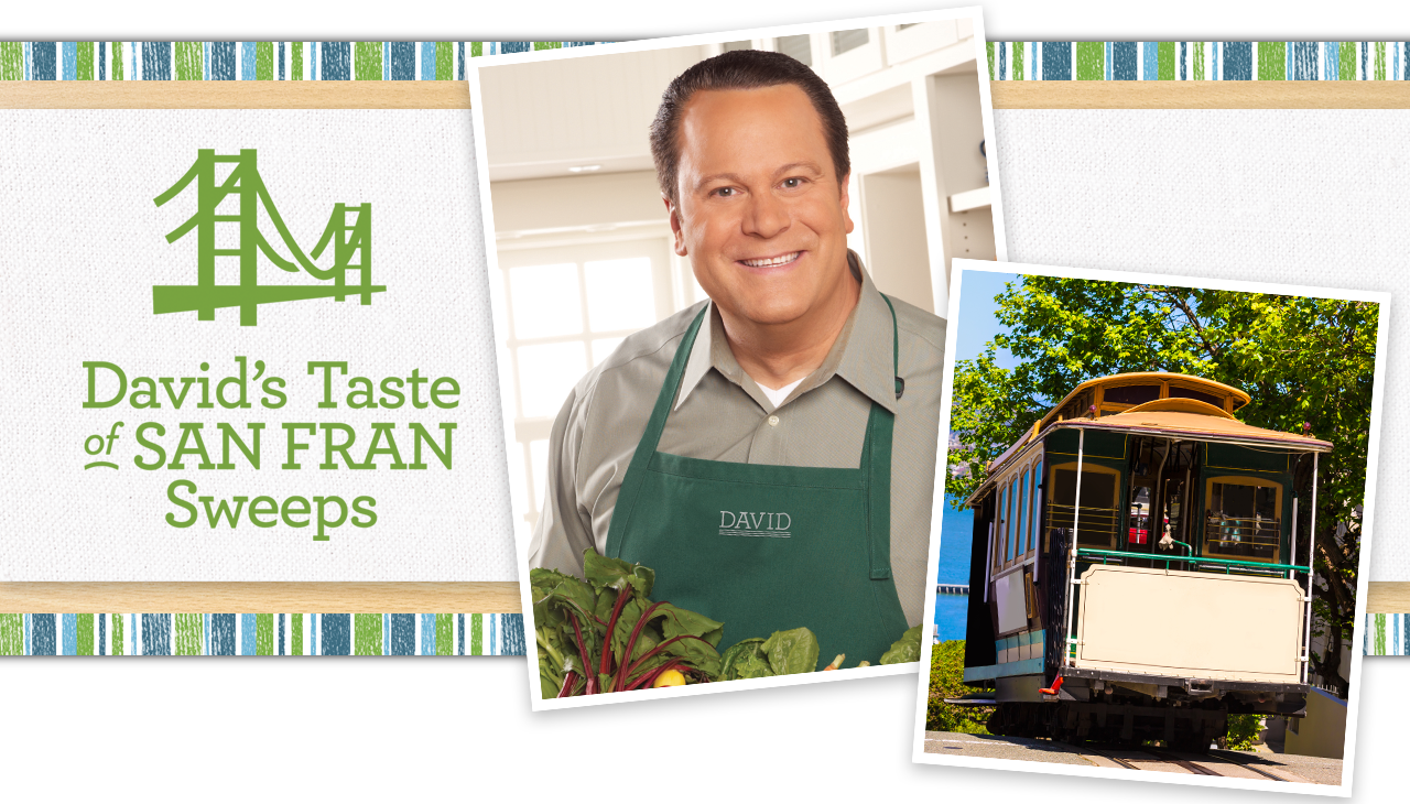 Host David Venable's stirring up some foodie buzz.