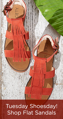 Tuesday Shoesday! Shop Flat Sandals
