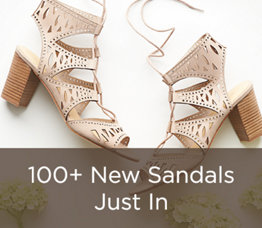 100+ New Sandals Just In