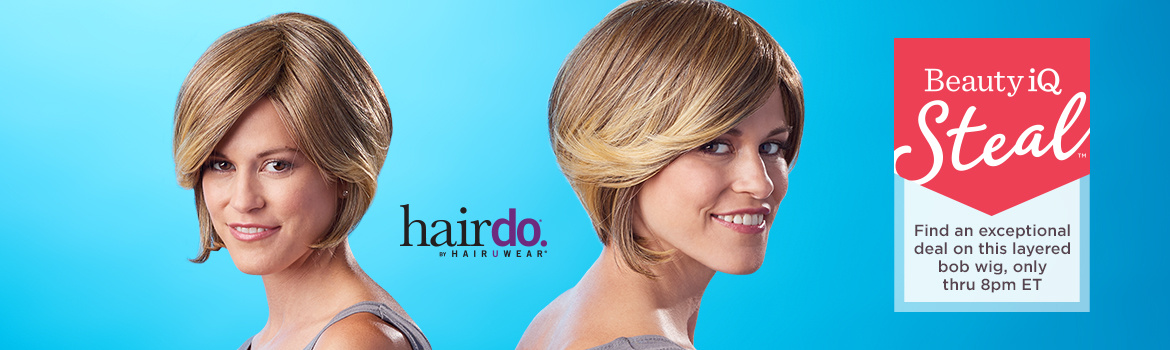 Beauty iQ Steal™ - Find an exceptional deal on this layered bob wig, only thru 8pm ET