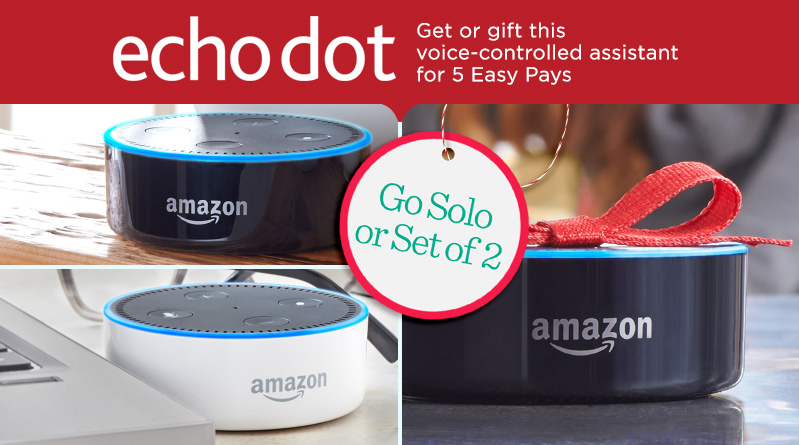 Our First-Ever Amazon Dot TSV® Buy one Echo or a set of two & check your list twice