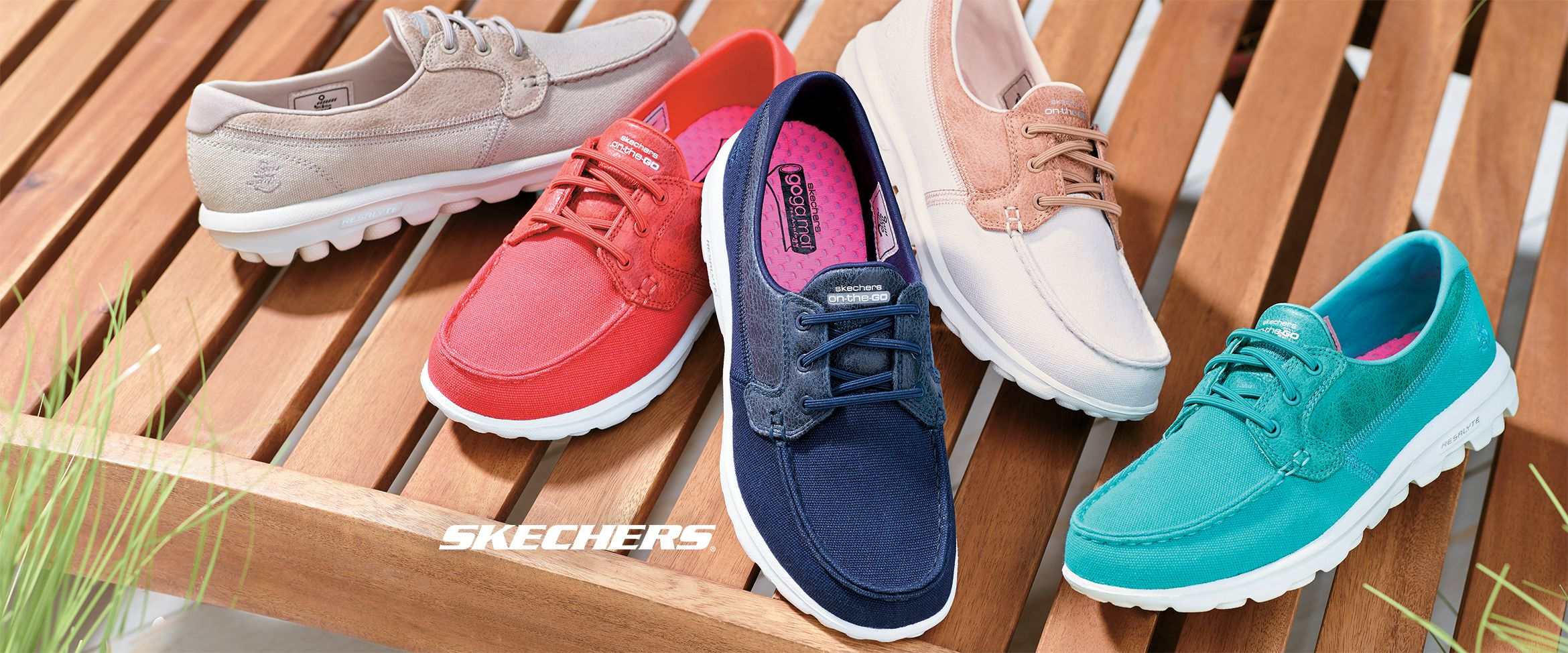 Skechers On-the-GO Boat Shoes with Goga Mat - Seaside