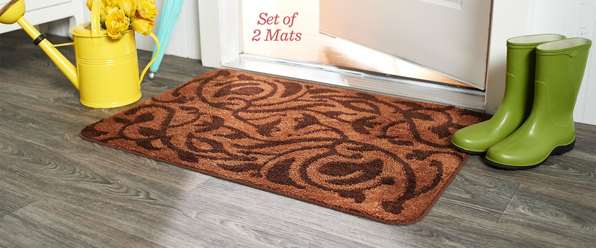 "Don Aslett's 26"" x 38"" Patterned Microfiber Indoor Mats Today's Special Value®"