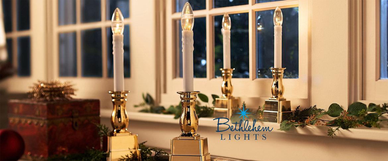Qvc Bethlehem Lights Set Of 4 Battery Op Slim Base Window Candles