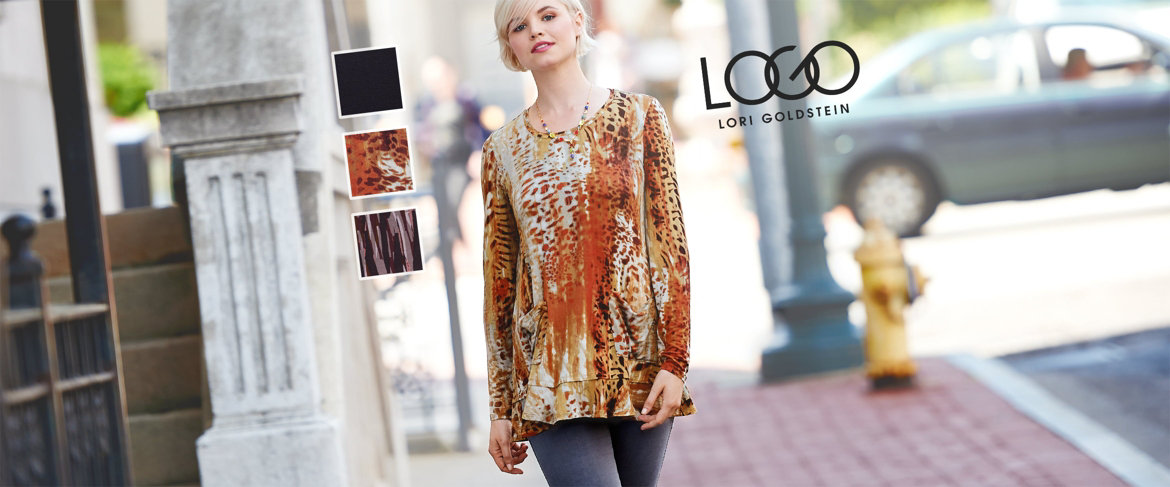 Today's Special Value® —  LOGO by Lori Goldstein Knit Top with Ruffle Hem