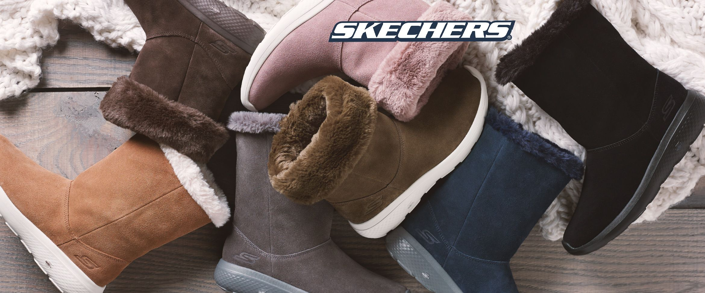 QVC) Skechers GOwalk Suede and Faux Fur Boots Stunning
