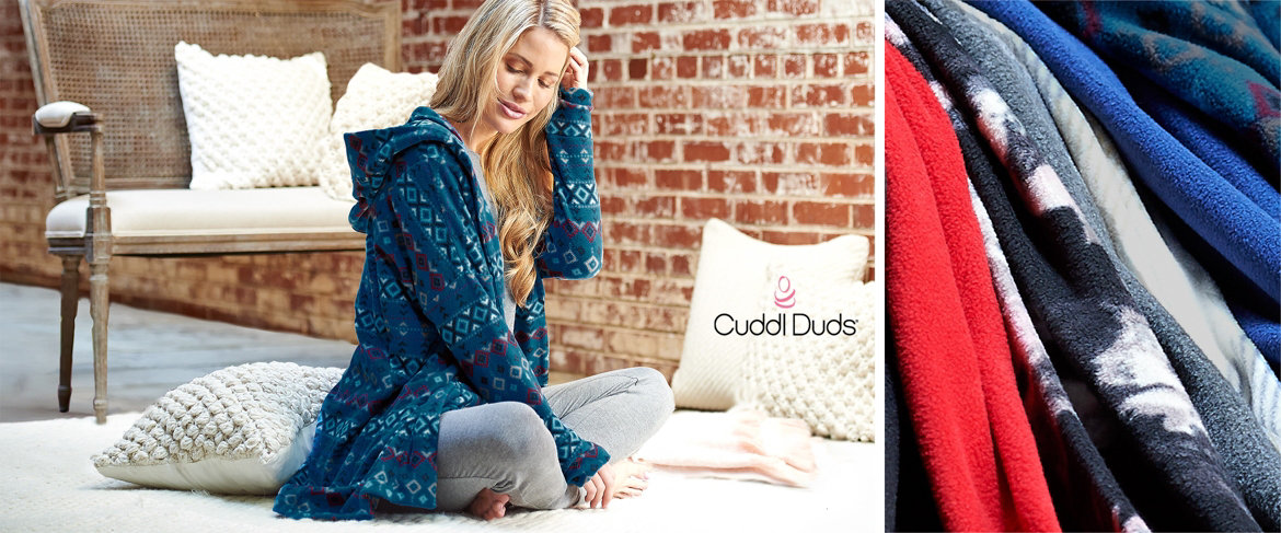 Today's Special Value® — Cuddl Duds Fleecewear Stretch Hooded Long Cardigan