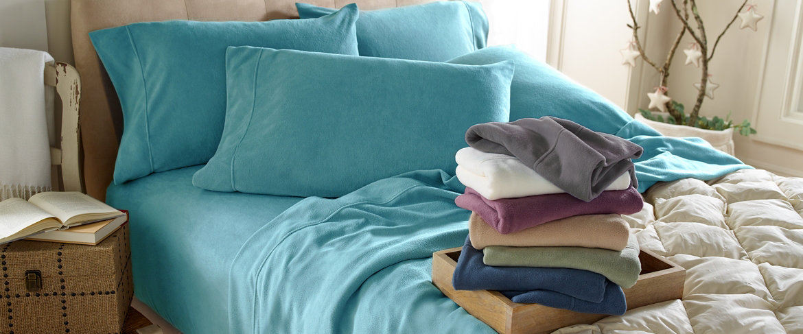 Today's Special Value® — Malden Mills Polarfleece Solid Sheet Set w/ Extra Cases