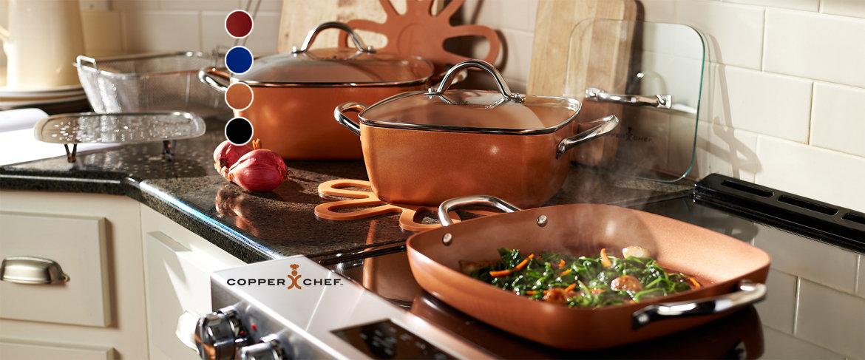 Today's Special Value® — Copper Chef 10-piece Cerami-Tech Non-Stick Cookware Set