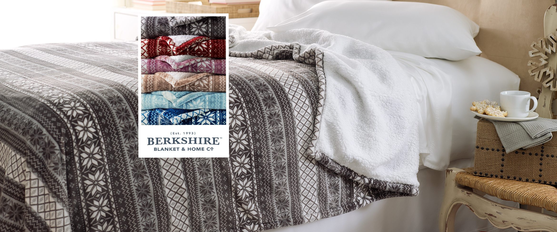QVC) Berkshire Fair Isle Velvet Soft Reverse to Sherpa Blanket ...