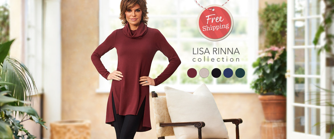 Today's Special Value® — Lisa Rinna Collection Cowl Neck Tunic with Seam Detail