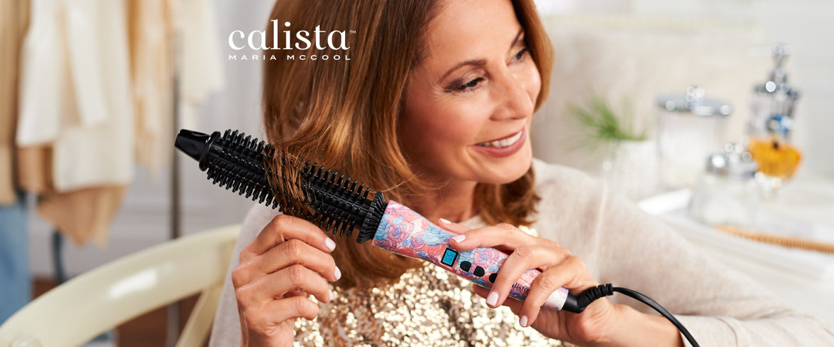 Today's Special Value® — Calista Perfecter Pro Grip Heated Round Brush with Bag