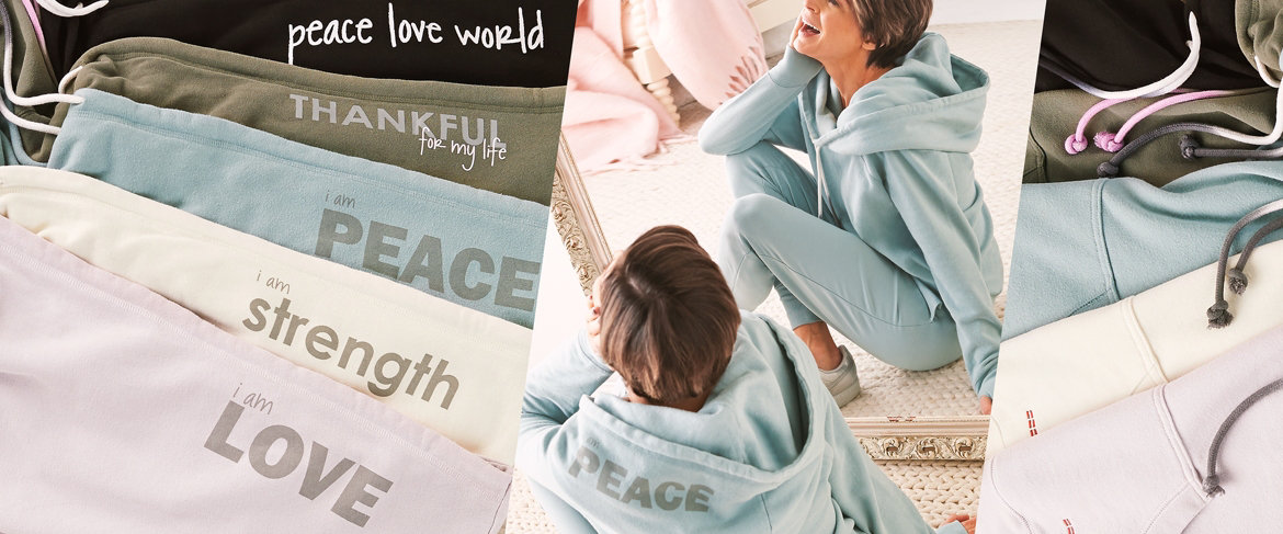 Today's Special Value® — Peace Love World Cowl Neck Hoodie