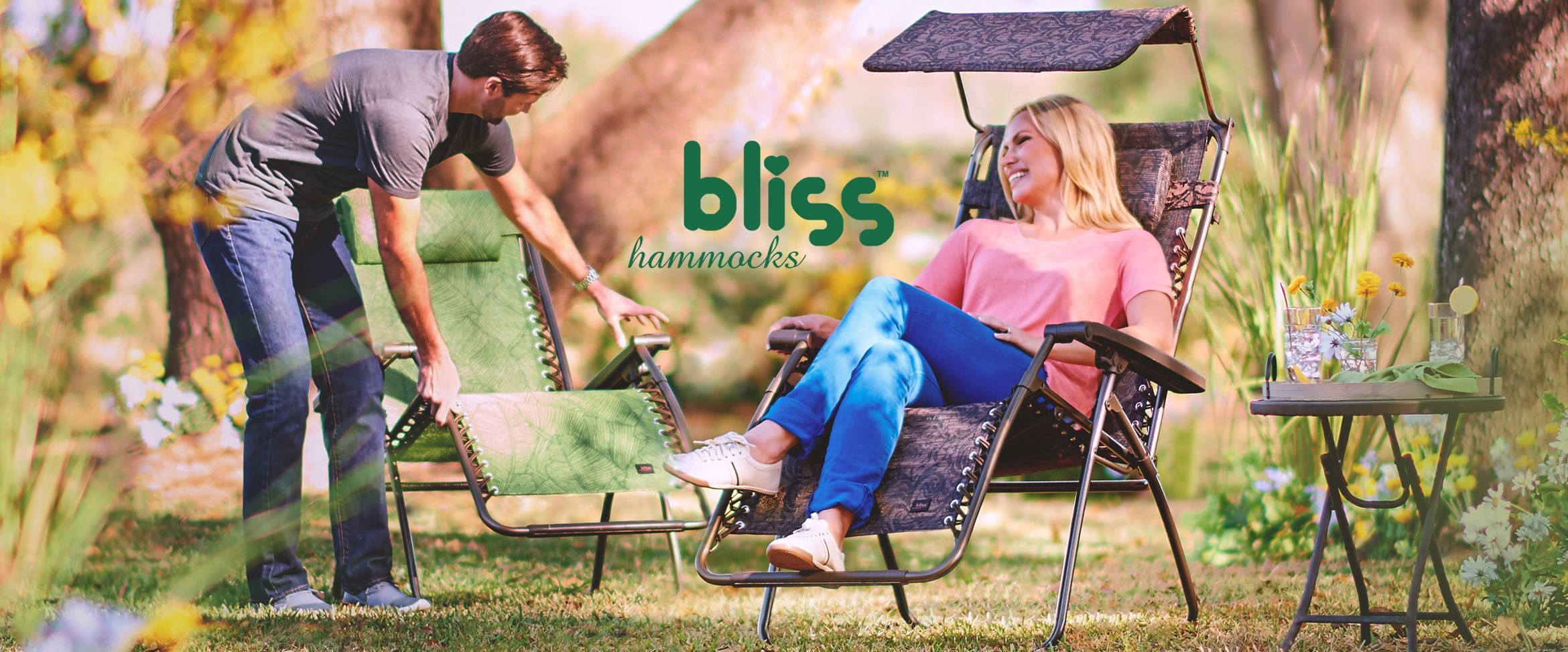 (QVC) Bliss Hammocks Premium Gravity Free Reclining Chair With Canopy    TVShoppingQueens