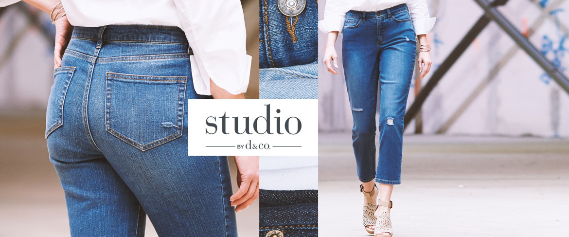Today's Special Value® — Studio by Denim & Co. Classic Denim Distressed Ankle Jeans