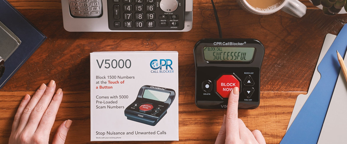 """Today's Special Value® — CPR Call Blocker with 3"""" Display & 6500 Number Blocking"""