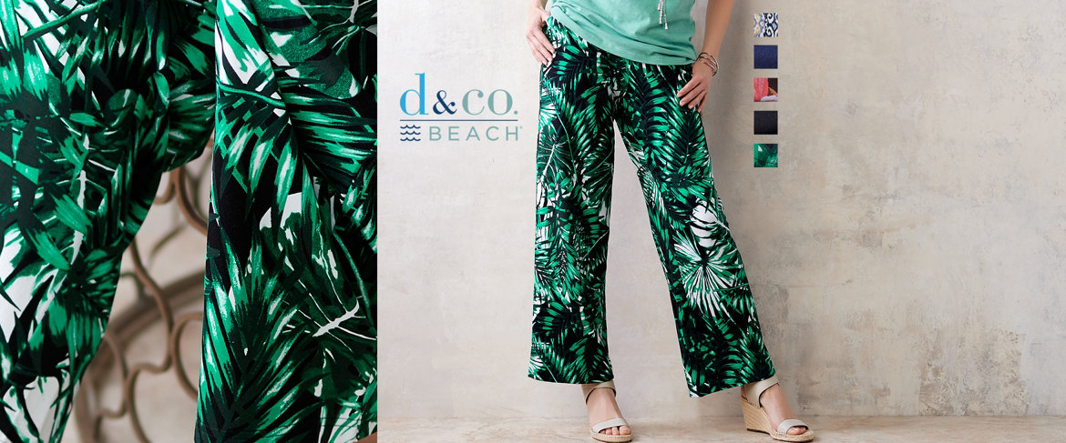Today's Special Value® — Denim & Co. Beach Pull-On Wide Leg Knit Pants
