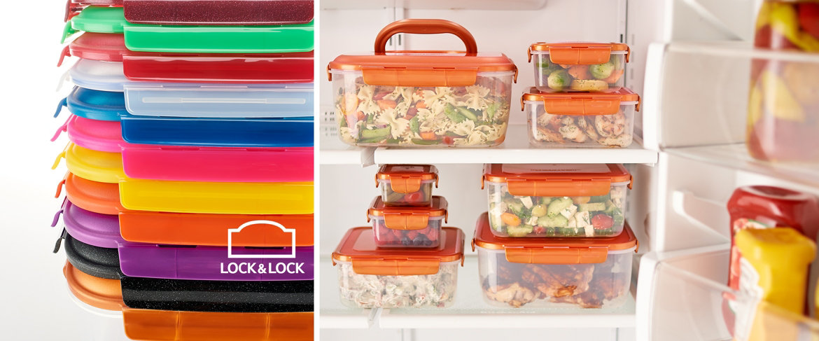 Today's Special Value® — Lock & Lock 8 pc Square Nestable Storage Set with Handle