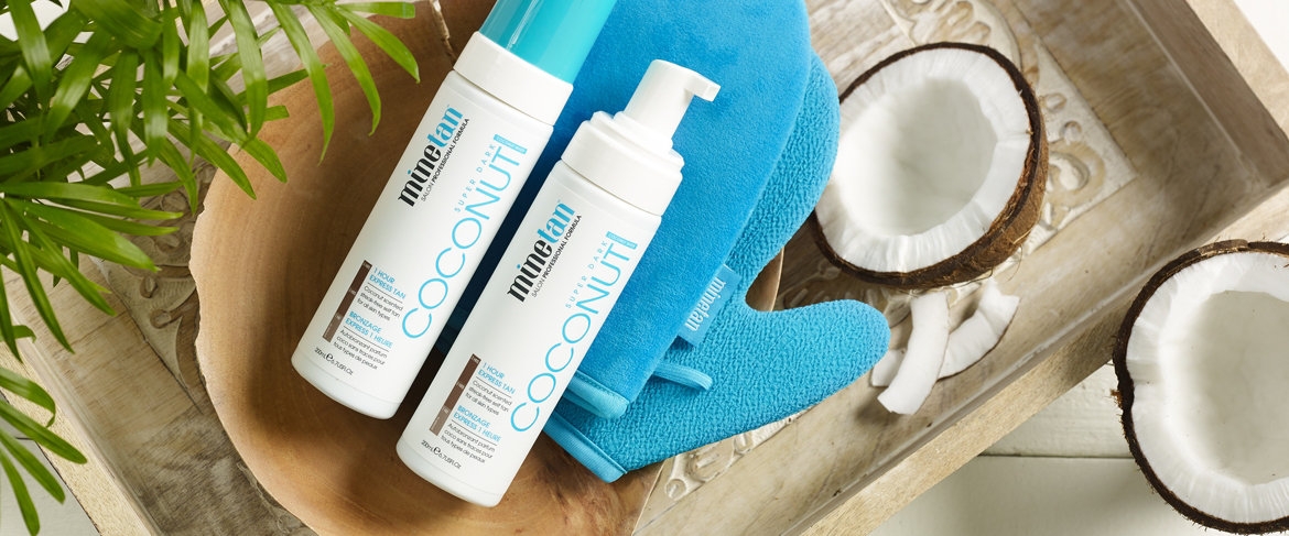 Today's Special Value® — Minetan Coconut Tanning Foam Duo w/ Exfoliation Mitt
