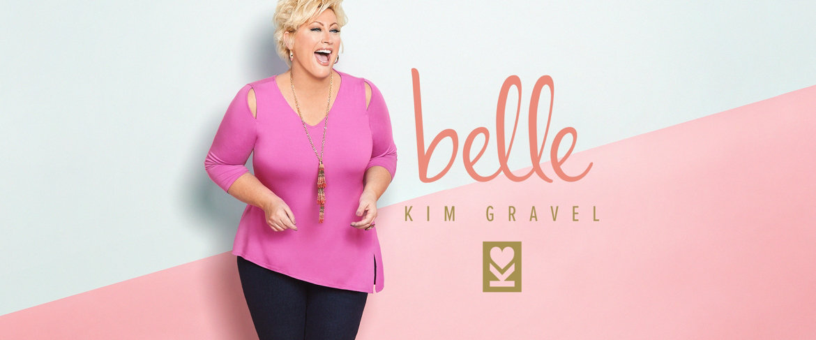 Today's Special Value® — Belle by Kim Gravel Knit Top with Asymmetrical Hem