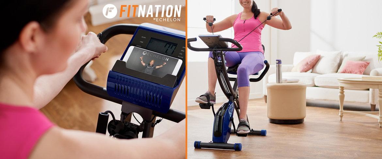 Today's Special Value® — FITNATION Recumbent & Upright Flex Bike w/ Echelon App
