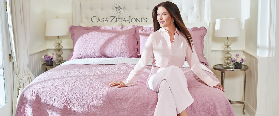 Today's Special Value® — Casa Zeta-Jones 100% Cotton Coverlet Set with Scallop Edge