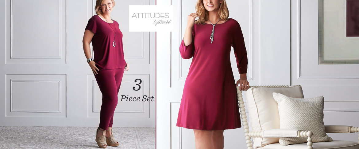 Today's Special Value® — Attitudes by Renee Como Jersey Wardrobe Warrior 3-Piece Set