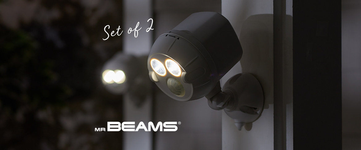 Today's Special Value® — Mr Beams S/2 450 Lumen NetBright Security Spot Lights — Set of 2