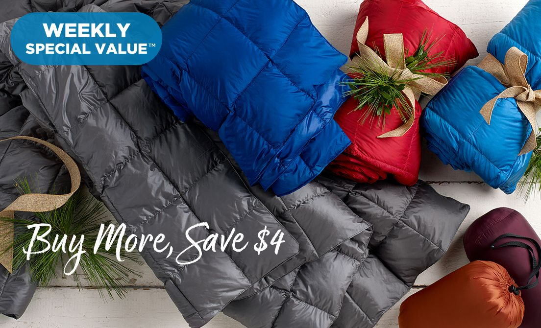 Weekly Special Value™ — Packable Down Throw — Buy More, Save $4