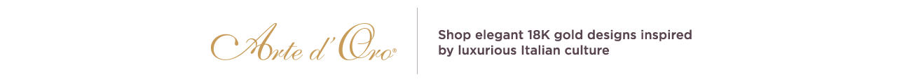 Arte d'Oro® 18K Gold Italian Shop elegant 18K gold designs inspired by luxurious Italian culture