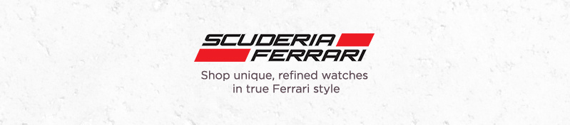 Shop unique, refined watches in true Ferrari style