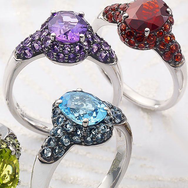 Gemstone Jewelry Rings Earrings Pendants Etc Qvc Com