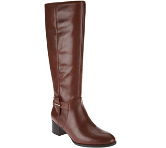 Nine West Stacked Heel Riding Boots- Villiger - S8300