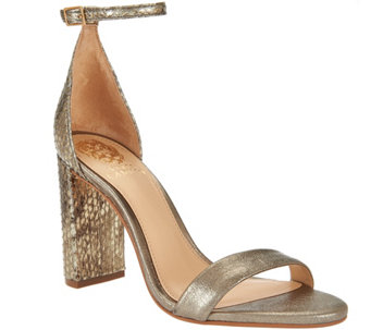 Vince Camuto Two-Strap Block Heel Sandals - Mairana - S8401