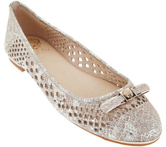 Vince Camuto Perforated Leather Flats - Celindan - S8507