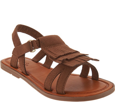 Polo Children's Alana Taupe Fringe Sandals