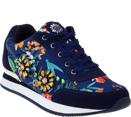 Yellow Box Floral Embellished Sneakers - Alberta