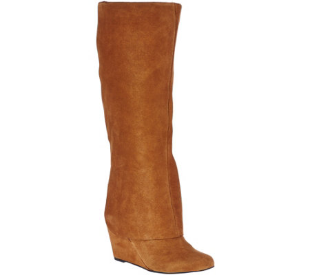 Jessica Simpson Suede Wedge Knee High Boots - Rallie