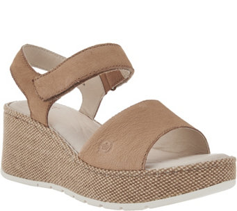 Born Canvas Wrapped Platform Wedge Sandals- Lucee - S8518