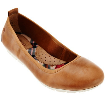 Born Waxed Suede Slip-On Flats - Tami - S8519
