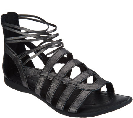 Born Angeles Caged Gladiator Sandals