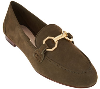Louise et Cie Leather Loafers with Hardware- Faunia - S8425