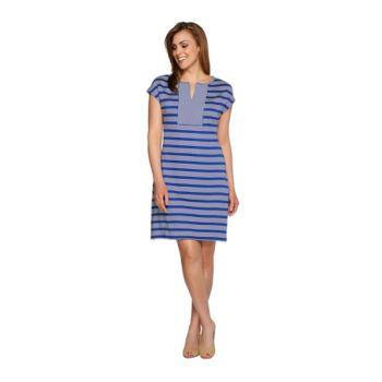 Isaac Mizrahi Live! Striped Knit Dress