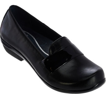 Dansko Leather Slip-On Shoes- Oksana - S8336