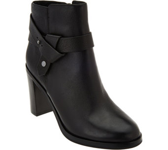 Via Spiga Ankle Booties w/ Criss Cross Strap - Farrah - S8536