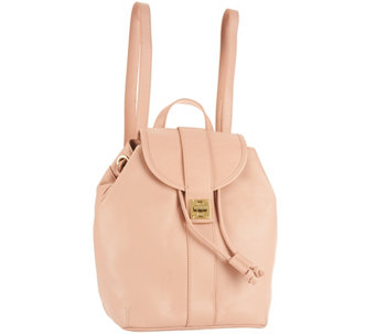 Isaac Mizrahi Live! Bridgehampton Leather Backpack - S8736