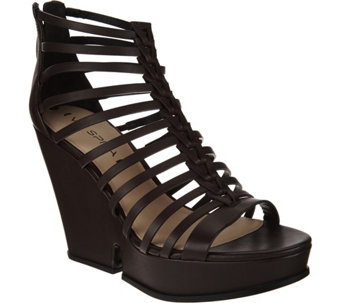 Via Spiga Platform Strappy Caged Sandals- Walena - S8542