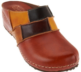 L'Artiste Spring Step Painted Leather Clog -Ridgeview-B - S8447