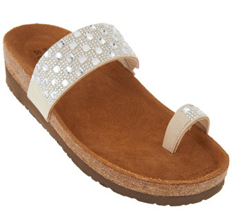 Naot Embellished Leather Slide Sandals - Nevada - S8449